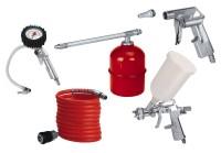 Einhell Druckluft Werkzeug Set, Profi 5 tlg., Reifenfüllmesser, Ausblaspistole, Spiralschlauch, Spritzpistole, Sprühpistole - 4132720