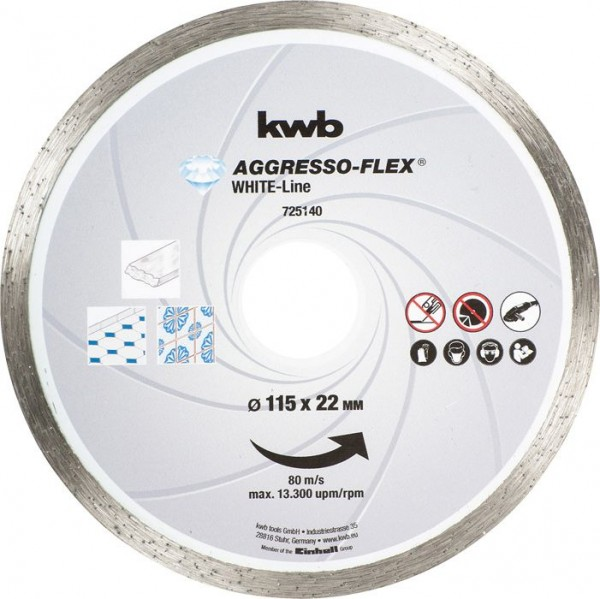 KWB AGGRESSO-FLEX® White-Line DIAMANT-doorslijpschijven, ø 115 mm - 725140