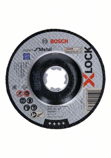 Bosch X-LOCK Trennscheibe Expert for Metal, A 30 S BF, D 125 mm, 2,5 mm, gekröpft - 2608619257