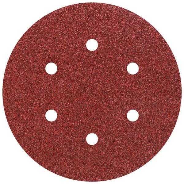 Wolfcraft Disques abrasifs corindon auto-agrippants perforés,. grain 60/120/240