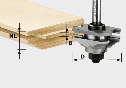 Festool Fresa elastica a profilare HW S8 D46 x D12-FD - 490643
