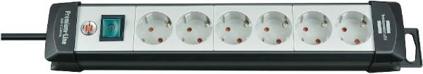 Brennenstuhl Premium-Line Steckdosenleiste 6-fach 3m schwarz/lichtgrau