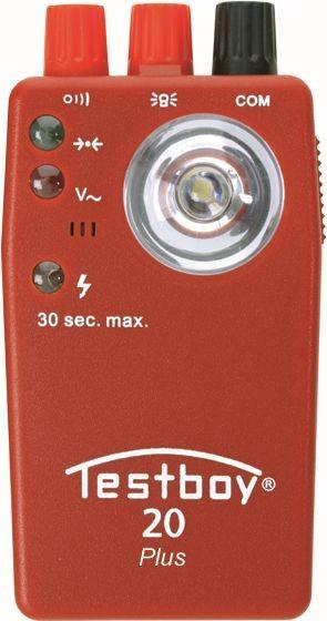 Testboy Testeur de continuité Optique 0-20 ohm / Acoustique 0-250 ohm - Testboy 20 Plus