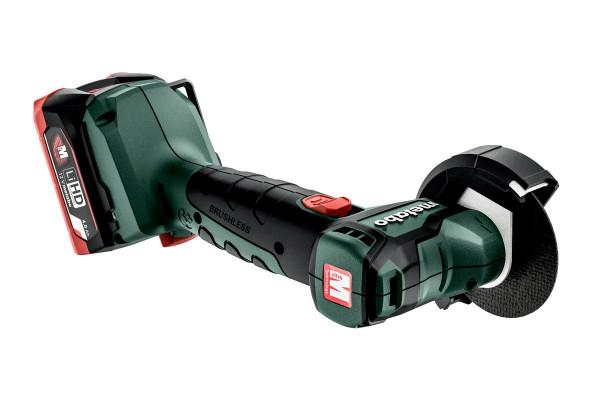 Metabo Akku-Winkelschleifer PowerMaxx CC 12 BL, Kunststoffkoffer, 12V 2x4Ah LiHD + ASC 55 - 600348800
