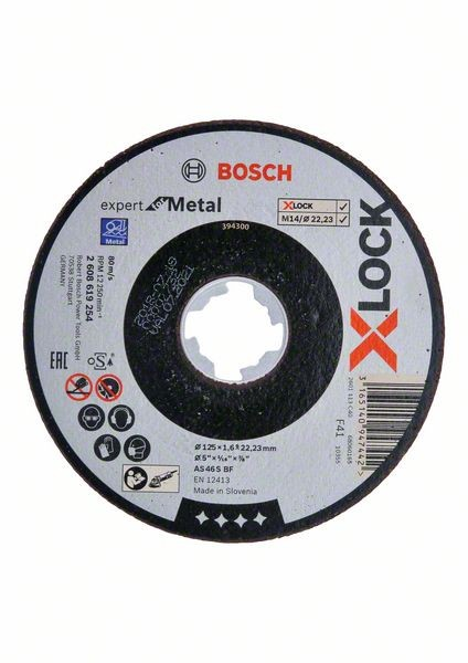Bosch Disques à tronçonner droits X-LOCK Expert for Metal 125x1,6x22,23 mm - 2608619254