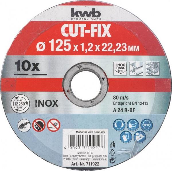 KWB CUT-FIX® doorslijpschijven extra dun, metaalbewerking, voordeelverpakking - 711922