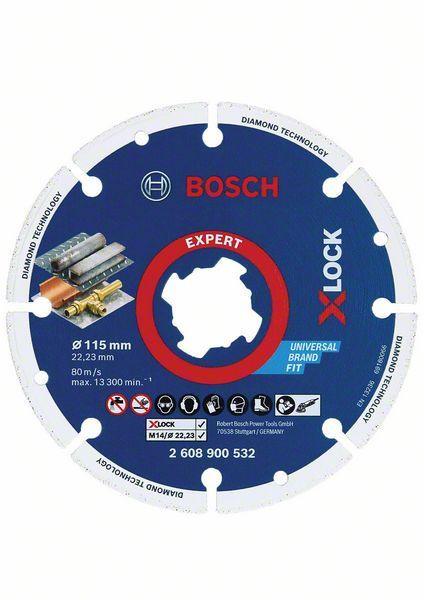 Bosch Diamanttrennscheibe X-LOCK Best for Metal 115 x 22,23 mm - 2608900532