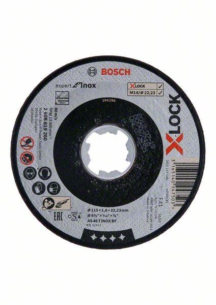 Bosch Mola da taglio X-LOCK Expert for Inox 115x1,6x22,23 taglio dritto - 2608619260