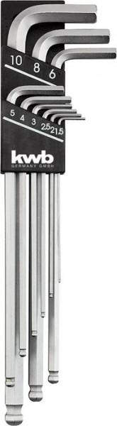 KWB Inbussleutelset lang, 9-delig - 147600