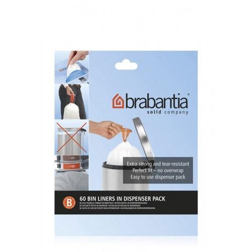 Brabantia Müllbeutel 5 L, 60 Müllbeutel in Spenderverpackung