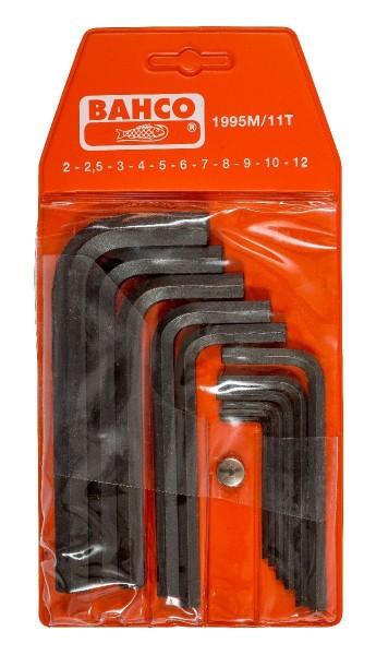 Bahco JEU DE TOURNEVIS D'ANGLE, 10 PCS, BRUNIS, 6 PANS - 1995M/10T