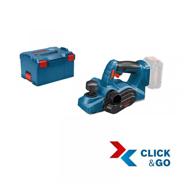 Bosch Professional GHO 18 V-LI Akku Hobel in L-BOXX, ohne Akku und Ladegerät - 06015A0300