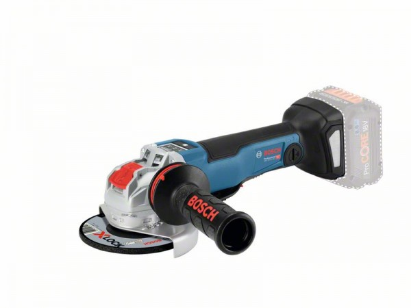 Bosch Professional Akku-Winkelschleifer GWX 18V-10 PSC, ohne Akku, ohne Ladegerät, L-BOXX, mit X-LOCK - 06017B0800