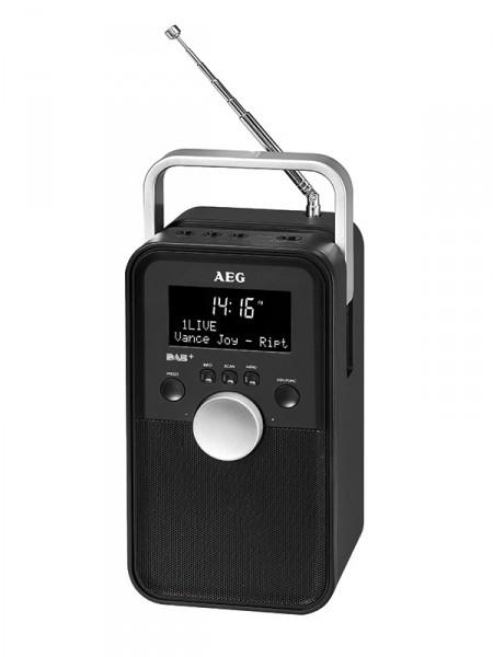 AEG DR 4149 Transistorradio met DAB+ 3,7 V, Zwart - 400654