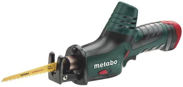 Metabo Akku Säbelsäge PowerMaxx ASE + 2 x 1,5 Ah Akkus + Lader + Koffer + 2 Säbelsägeblätter