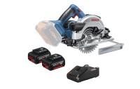 Bosch Sega circolare a batteria GKS 18V-57 G, con 2 x 4.0 Ah Li-Ion batterie, L-BOXX - 06016A2106