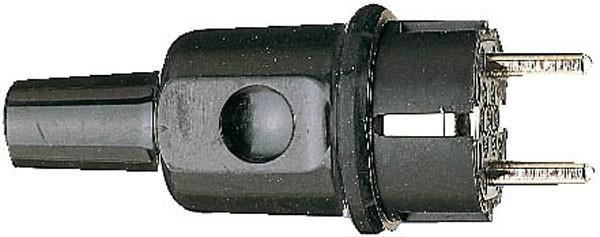 Brennenstuhl Stecker & Kupplungen Schutzkontakt-Gummistecker 230 V/16 A, schwarz