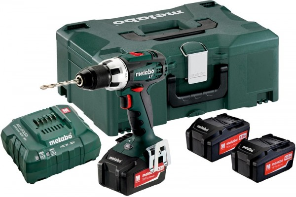 Metabo Perceuse-visseuse sans fil BS 18 LT Set 3x18V/4Ah Li-Ion, Chargeur ASC 30-36 V, MetaLoc, + 3 batteries Li-Power (18 V/4,0 Ah) + coffret MetaLoc - 602102960