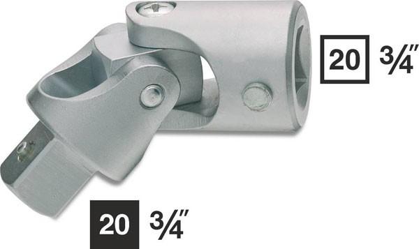 Hazet Universalgelenk - Vierkant hohl 20 mm (3/4 Zoll) - Vierkant massiv 20 mm (3/4 Zoll) - Gesamtlänge: 105 mm - 1021