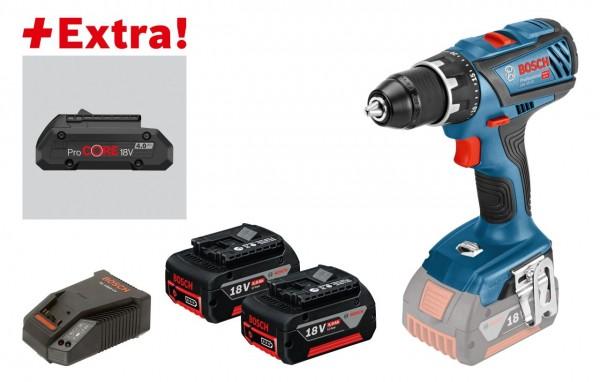 Bosch Trapano-avvitatore a batteria GSR 18V-28, 2 batterie da 5,0 Ah, ProCORE18V 4,0 Ah, L-BOXX - 0615990K7H