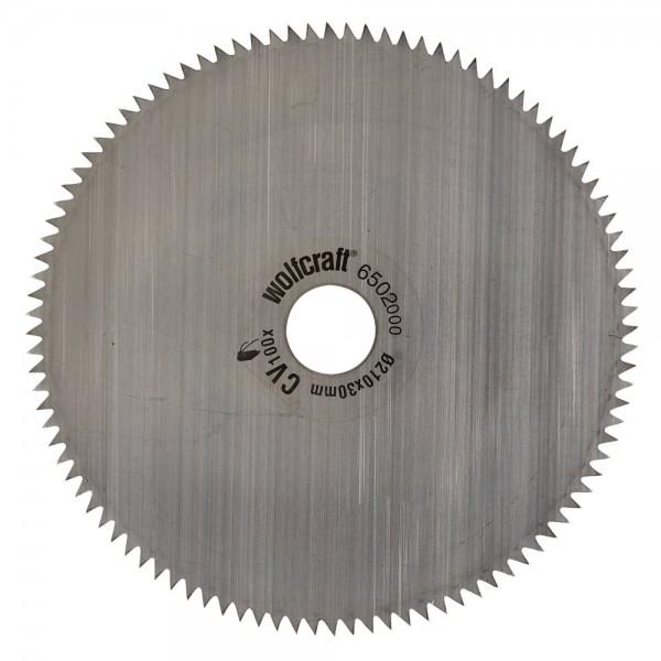Wolfcraft Lame pour scie à onglet CV Standard, 209x30x2.6 mm, 100 dents