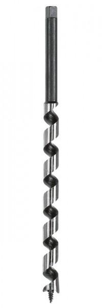 Wolfcraft Mèche à bois à spirale unique, spécial bois épais, Ø 14,0 x 400 mm