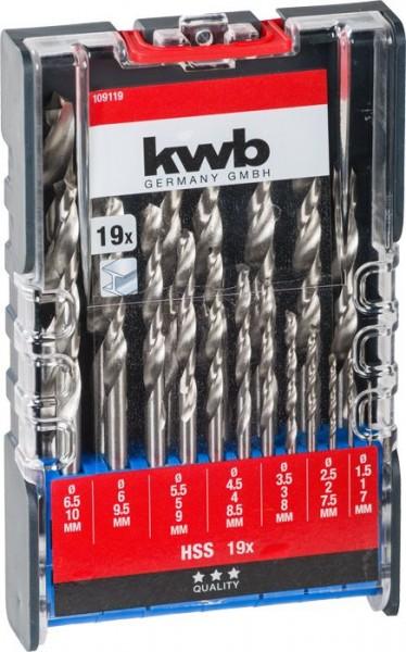 KWB HSS-metaalborenset, 19-delig - 109119