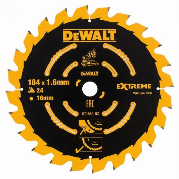 DeWALT Lama per troncatrice, 184/16 mm, 24 denti, per DCS365 - DT1669-QZ