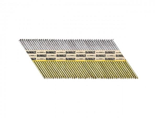 DeWALT Chiodi in stecca DNPT, ring, galvanizzati G12, 63 mm, 2200 pezzi - DNPT28R63G12Z