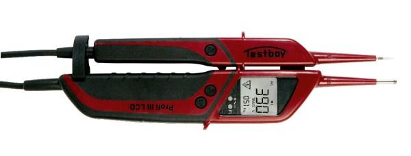 Testboy Zweipoliger Spannungsprüfer mit FI-Test - PROFI III LCD