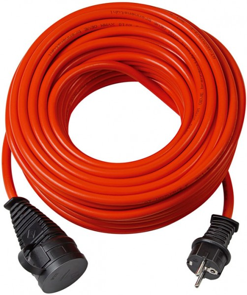 Brennenstuhl BREMAXX cable alargador de corriente prolongación de 25 m AT-N07V3V3-F 3G1,5, naranja - 1161650