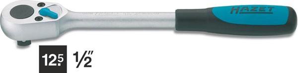 Hazet Umschaltknarre - Vierkant massiv 12,5 mm (1/2 Zoll) - Gesamtlänge: 275 mm - 916SP