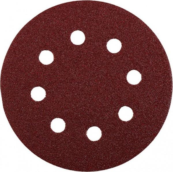 KWB QUICK-STICK schuurschijven, HOUT & METAAL, edelkorund, Ø 125 mm, geperforeerd - 491904