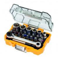 DeWALT Set 24 pezzi con inserti e bussole per avvitare - DT71516-QZ