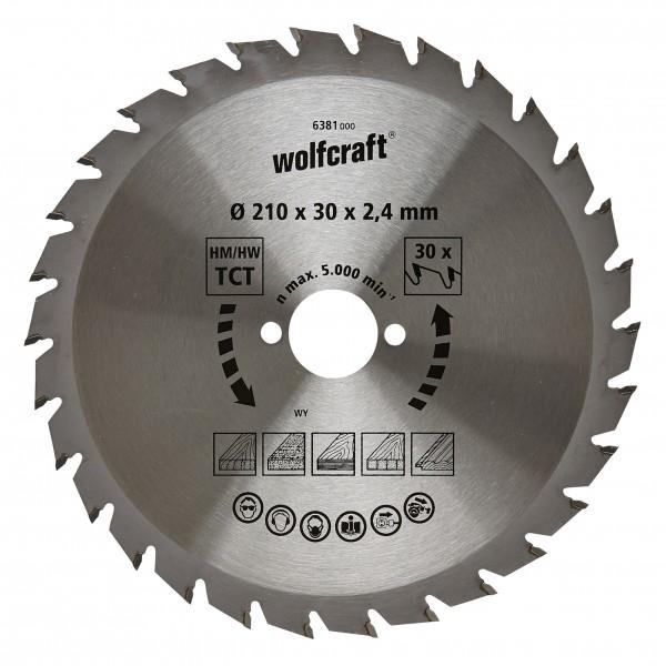 Wolfcraft lama per sega circolare HM, 30 denti
