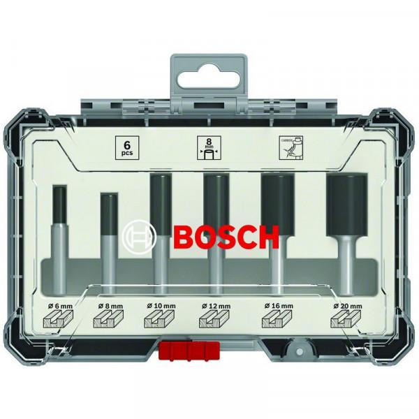 Bosch Nutfräser-Set, 6-mm-Schaft, 6-teilig - 2607017465