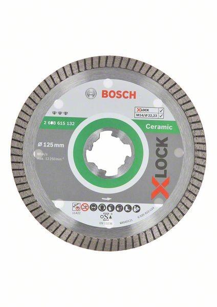 Bosch X-LOCK Diamanttrennscheibe Best for Ceramic Extra Clean Turbo 125 mm - 2608615132