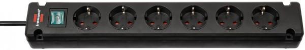 Brennenstuhl Bremounta Steckdosenleiste 6-fach schwarz 3m H05VV-F 3G1,5