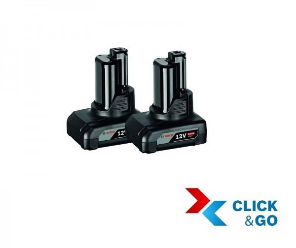 Bosch Professional Akkupack GBA 12 Volt, 6,0 Ah, 2 Stück