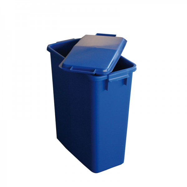 GRAF Afval-/recyclingcontainer 60l blauw kunststof L555xB285xH590mm