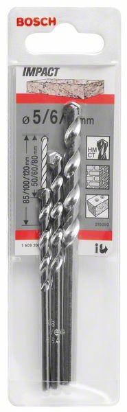 Bosch Forets à matériaux CYL-1, set de 3 pièces 5, 6, 8 mm
