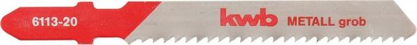 KWB Decoupeerzaagbladen, metaalbewerking, HSS, grof - 611320