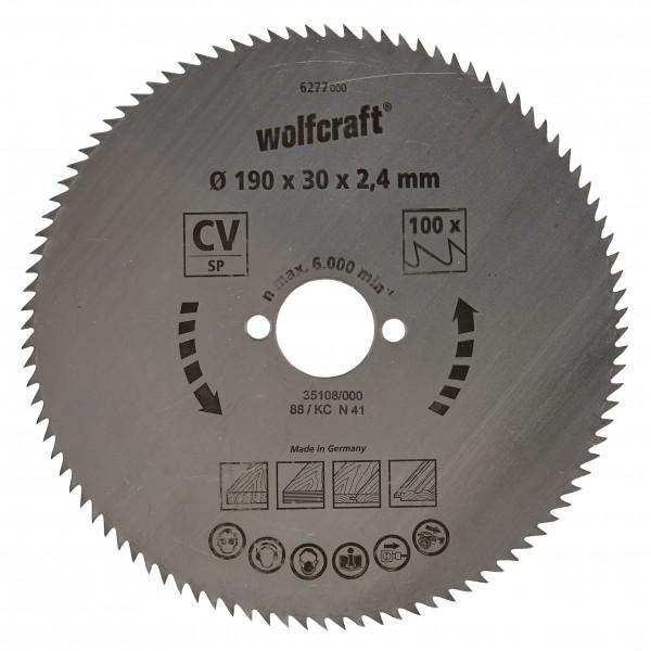 Wolfcraft Lame de scie circulaire CV, Ø 190 x 30 x 2,4 mm, 72 dents
