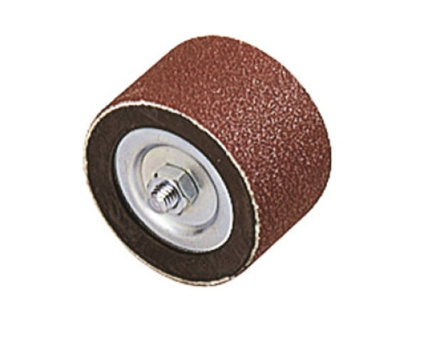 Wolfcraft rullo abrasivo con 2 nastri, gambo 6 mm