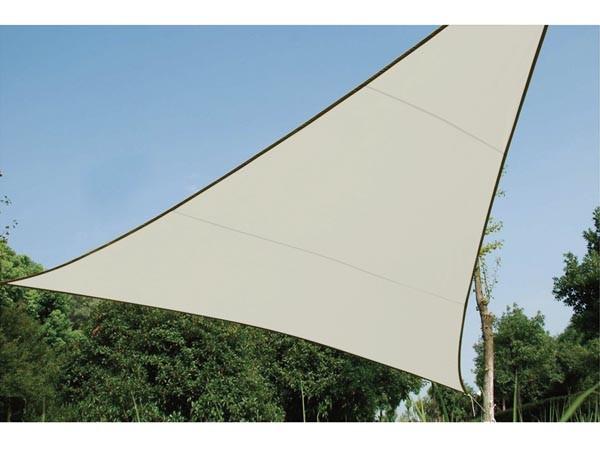 Perel ZONNEZEIL - DRIEHOEK - 3.6 x 3.6 x 3.6 m - KLEUR: CRÈME