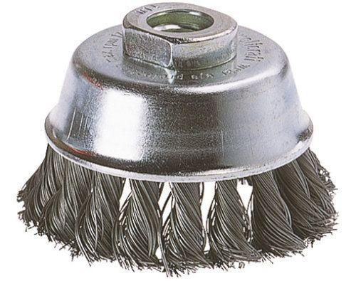 Wolfcraft spazzola metallica a tazza, a treccia, filettatura 14 mm