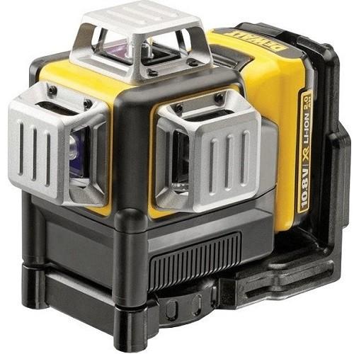 DeWALT Laser 3 linee, 3x360°, verde, 10,8V/2Ah - DCE089D1G-QW
