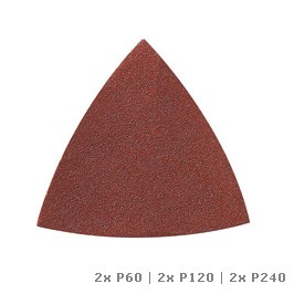 DREMEL Multi-Max schuurpapier voor hout (P60, P120 en P240)