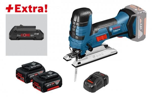 Bosch Professional Akku-Stichsäge GST 18V-LI S, mit 2 x 5,0 Ah Akku, ProCORE18V 4,0 Ah, L-BOXX - 0615990K7W