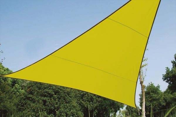 Perel ZONNEZEIL - DRIEHOEK - 3.6 x 3.6 x 3.6 m - KLEUR: LICHTGROEN